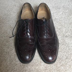 Johnston & Murphy Red/Brown Oxford Shoes